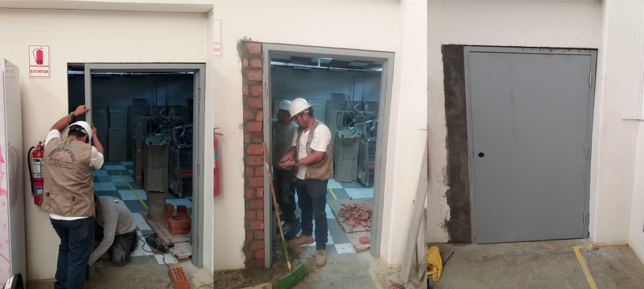Instalaci n de puertas cortafuego for Instalacion de puertas